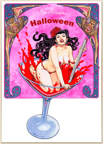 Caryad: Burlesque, Halloween, Pin Up, Vampir, vampire