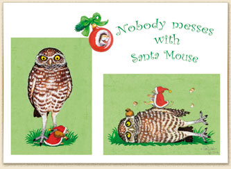 Caryad: Link to picture, Christmas, Owl, Mouse